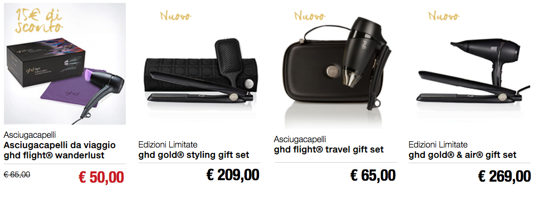 Idee regalo Natale Ghd